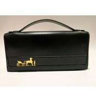Authentic HERMES 1976 Eugenie Clutch and Hand bag