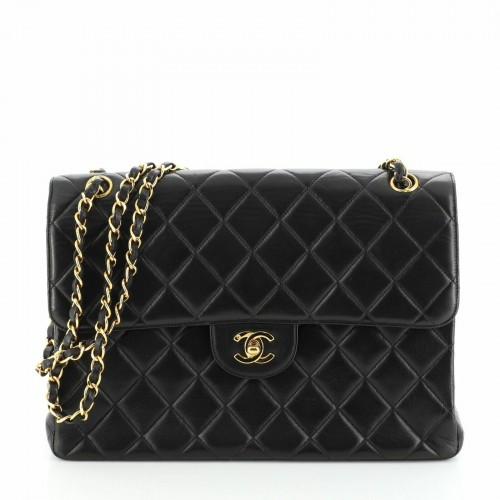 Chanel Double Sided Flap Bag Quilted Lambskin Jumbo