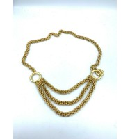 PALOMA PICASSO GOLD TONE CHAIN BELT THREE RING