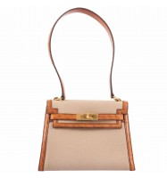 Hermes Kelly 20 ,Sellier Natural Toile , Ostrich