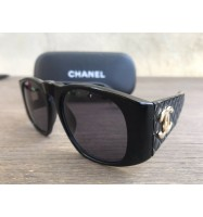 CHANEL SUNGLASSES 01450 94305 ORIGINAL BLACK QUILTED с чехлом