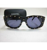 CHANEL Star Studs Sunglasses Eye Wear CC Logo Black 03525 94305